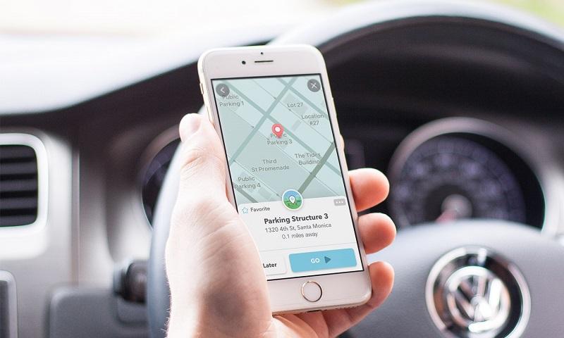 Donde estacionarte usando Waze